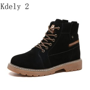 2019 Hot New Autumn Early Winter Shoes Women Flat Heel Boots Fashion Keep warm Women's Boots Brand Woman Ankle Botas  Boot