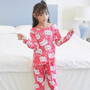 Kinder Marke Pyjamas Sets Baby Cotton Kleidung Set-Jungen-Mädchen-Pyjamas Karikatur druckte Kindernachtwäsche Pyjamas Startseite Clothes80