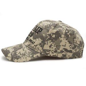 Yeni BÜYÜK AMERIKA BÜYÜK Kamuflaj Beyzbol Şapkası Nakış Trump 2020 Snapback Şapka Erkekler Kadınlar Unisex Spor Camo Ordu Gorras Caps