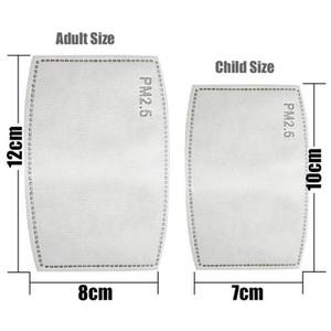안티 먼지 방울 교체 마스크 필터 삽입 마스크 종이 안개 입 PM2.5는 가정 보호 제품 건강 케어 필터