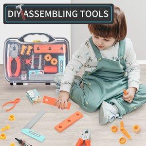 TW2005074 ferramenta caixa de armazenamento Set 12pcs brinquedos definir várias ferramentas acessórios independente montagem Ferramentas desempenham papel DIY