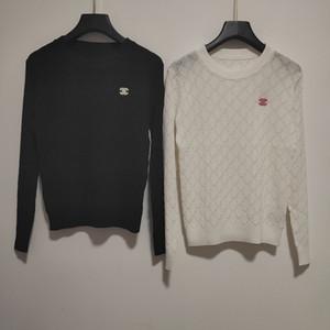 Milán Pista suéter 2020 del O cuello suéteres de las mujeres de gama alta jacquard suéter diseñador de las mujeres suéter 0323-24