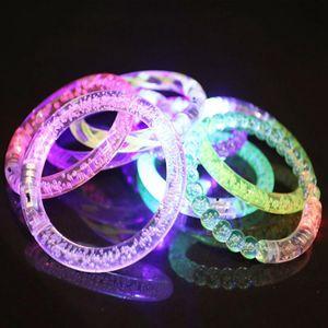 Led Glitter Bracelet Fashion Light Crystal Gradient Color Hand Ring Acrylic Glow Flash Sticks Party Dance Xmas Supplies TTA2136-3