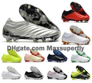 2020 Yeni Erkek Copa 20+ FG 20 + x 20.1 19 + x Kayma-On Şifreleme Kod Gümüş Futbol Futbol Ayakkabı Çizme Ucuz Kramponlar Boyut 39-45