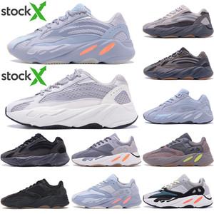 أعلى جودة كاني ويست الاحذية 700 V2 الجمود عاكس تيفرا الصلبة رمادي المساعدة الأسود VANTA الرجال رياضة المرأة أحذية رياضية مع صندوق