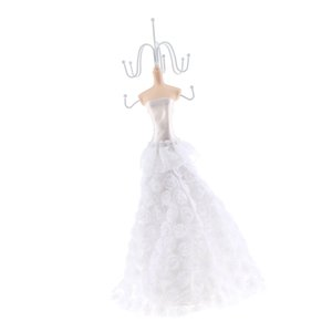 White Wedding Party Fantasy Jewelry Display Stand Holder Rack