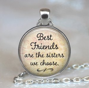 Ciondolo cabochon in vetro regalo Bookworm regalo di lettura collana collana gioielli gioielli parola migliori amici