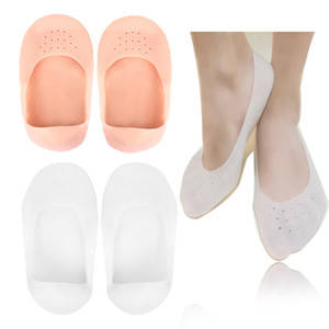 Silicone Insole Moisturizing Socks Heels Protector Anti Crack Foot Spa Socks Gel Shoes Insoles Feet Care Calluses Pedicure Socks