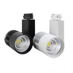 LED COB Parça Işık 20 W Kısılabilir Raylı Işıklar Spot Giyim Ayakkabı Mağazası Siyah Beyaz Vücut LED Spot 20W COB LED Raylı Parça Tavan