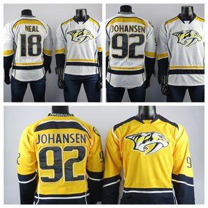 Nashville Predator Jerseys El mejor jugador de 18 James Neal 92 Ryan Johansen Jersey de alta calidad para hombres bordados de alta calidad Jerseys de hockey sobre hielo cosido