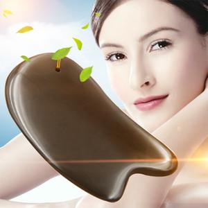 5A Grade Si Bin Bian Stone Massage Guasha Beauty Face Plate scratching Massager Tool body face slimming scraper V-line face CY200521