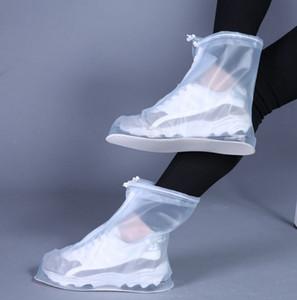 새로운 야외 비 신발 부츠는 남성 여성 어린이를위한 방수 미끄럼 방지 Overshoes가 덧신 여행 신발 커버