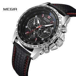 MEGIR Orologi da uomo Top Brand Luxury Orologio al quarzo Uomo Moda Casual luminoso Orologio impermeabile Relogio Masculino 1010