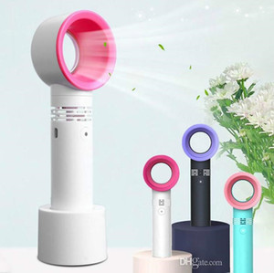 Zero9 USB Bladeless Fan Rechargeable Portable Handheld Mini Cooler No Leaf Handy Fan With 3 Fan Speed Level LED Indicator MQ20