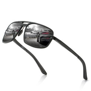 The new men's all aluminum magnesium polarized sunglasses square riding driving sports sunglasses1390
