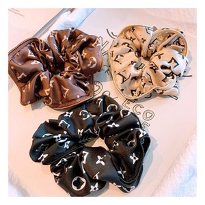 Retro Impresso Mulheres Anéis Cabelo High Street Personalidade Lady borracha Faixa de Cabelo Outdoor Elastic Designer meninas Rabo Headband