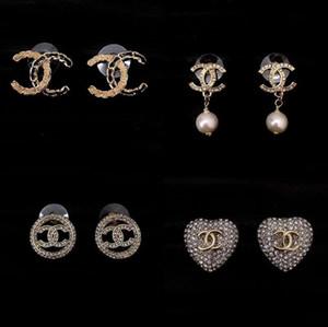 pendiente de gota de la calidad de lujo con diamantes y perlas para la joyería de las mujeres del regalo del estilo de pendientes de la manera el envío libre PS5619