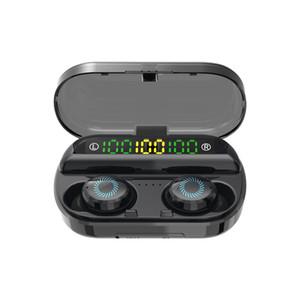 New V10 TWS drahtlos headphons Bluetooth 5.0 Kopfhörer 3 LED-Anzeige IPX7 wasserdicht earburds mit MIC Fall für Handy-Lade