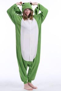 Animal Frog Pigiama Alta qualità Flanella Famiglia Party Cartoon Onesies Costumi Cosplay Tute Pigiameria