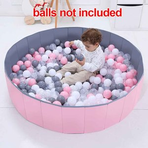 Foldable Playpen Infant Soft Washable Baby Ball Pool Tent Room Decor Fence Portable Safety Kids Play Indoor Outdoor Round Yard