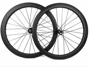 700C 60mm 깊이 도로 디스크 브레이크 탄소 바퀴 25mm 폭 자전거 clincher / 관형 탄소 wheelset 3k 무광택 마무리, U 형 테두리