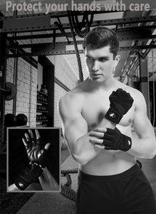 Fitness Gants demi-doigts Gants de sport Gants Fitness Club Anti-patinage, Air Perméabilité et résistance à l'usure 2 couleurs