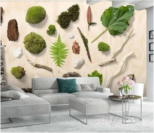 3d wallpaper sticker custom photo mural Small fresh green leaves plant watercolor TV background wall 3d photo home decor wall art pictures