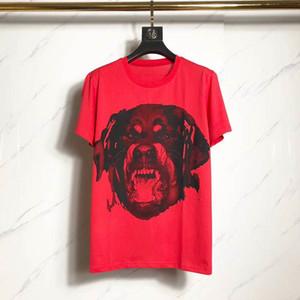Gül Köpek Baskı Kısa Kollu Unisex Kırmızı Stilist Tişörtlü Erkekler Kadınlar Yaz Tees Erkek T Shirt