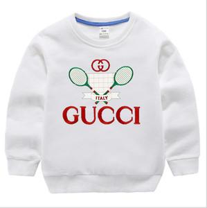 Corteza de prendas de vestir Ropa del bebé suéter sudaderas con capucha del suéter de los niños del otoño del equipo bordado de la manga del algodón puro largo de tejer