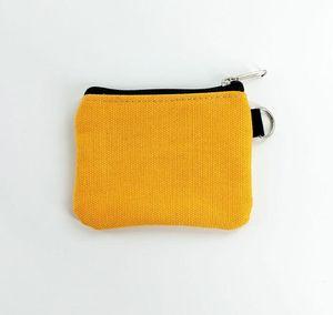 Square Small Women Cotton 50pcs Coin Purse Plain Unisex Canvas Blank Size Bags DIY 10.5*8.5cm Mknhp