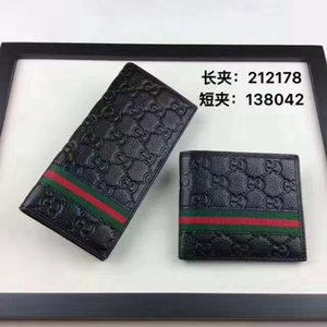 Men Wallets free shipping men women long wallet holding a purse Single zipper banknotes folder card wallets with box A01