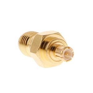 SMA-Buchse / Stecker auf MCX Buchse / Stecker gerade Hochfrequenz-Koaxial-Adapter Verbindungsstück-Konverter