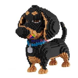 2100pcs 16014 Горячие продажи мультфильм собака мини таксы блочная модель Строительство Кирпич Игрушки для детей Подарки для собак Животные Строительные блоки CX200613