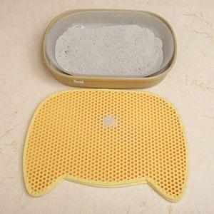 Double-deck Litter Cat Mat Panda Forma Environment-friendly Pet durável EVA Honeycomb Mat para Cães Gatos 65 * 49 cm