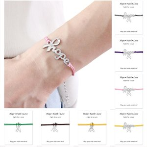 Make A Silver Hope Faith Love Ribbon Breast Cancer Survivor Awareness Bracelets For Women