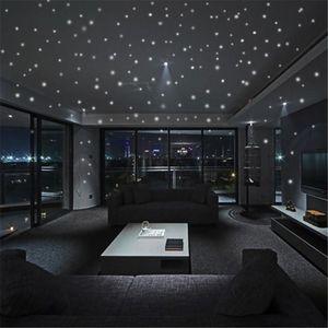 253pcs 빛나는 놀 어두운 달 라운드 도트 벽 스티커 홈 천장 장식