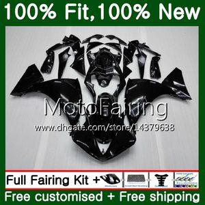 Glossy black Body For YAMAHA YZF 1000 R 1 YZF-1000 YZFR1 09 10 11 12 99MF1 YZF R1 09 YZF1000 YZF-R1 2009 2010 2011 2012 Fairing Bodywork