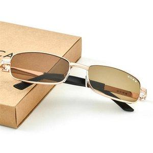 Glass Lenses Sun Glasses For Women Men Retro Metal Small Frame Brown Lenses Driving Sunglasses 2019 gafas de sol hombre