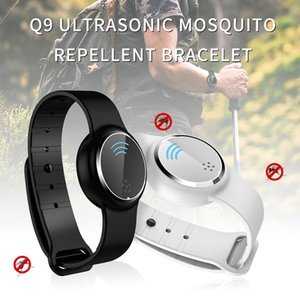 Q9 Wearable Technology Anti Mosquito Capsule Pest Bugs INSECTIFUGE Bracelet anti-moustique à ultrasons Wristband pour les enfants adultes