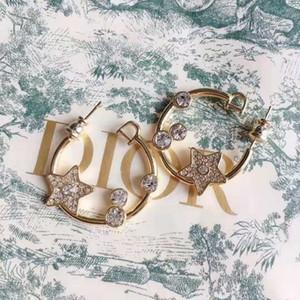 Großhandels-und amerikanische Explosionen fünfzackigen Stern Ohrringe 925 Sterling Silber Nadel weibliche Ohrringe