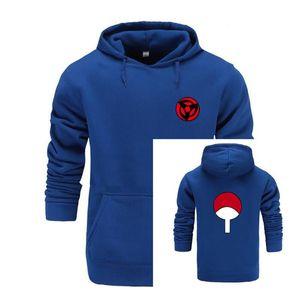 Nuovo naruto anime di moda con cappuccio e felpe per Coppie Moda Winte hoodies degli uomini Uchiha Syaringan divertenti Abbigliamento