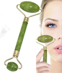 Face Massage 100% Natural Jade Roller Neck Slimming Portable Pratical Healthy Facial Body Head Foot Beauty Tools free