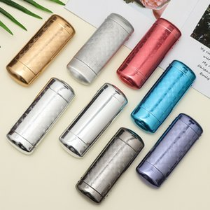 1Pc New Fashion Hard Metal Aluminum Lattice Glasses Case Capsule Flip Top Eyeglasses Case Protector For Glasses Storage Tools
