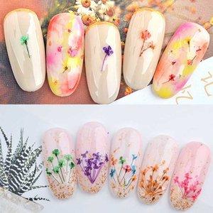 Сушеные прессованные цветы Цветы Гель для ногтей Искусство декоративные набор Babysbrith Цветочные маникюрные дебаты для ногтей Профессиональное искусство детей с футляром