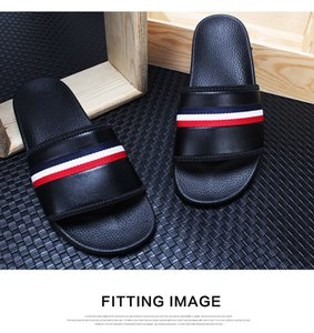 Luxury designer sandals 123 European station slippers men summer fashion Korean outdoor personality lovers beach cool trawl red drag