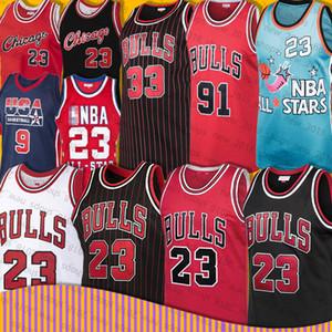 Bull jerseys 91 Dennis Rodman 23 Estado Michael 33 Scottie Pippen Universidad de Carolina del Norte retroceso Zach 8 LaVine Baloncesto Jersey MJ EE.UU.