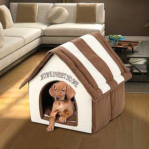 Pet Casa Canili staccabile pieghevole Flat-Top Dog House Nest portatile pieghevole gatto del cane del Bed Puppy Puppy Pet Home Forniture WX9-1874
