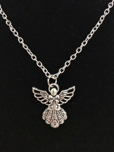 10PCS lot Angel   fairy -Charms Pendant Fashion Jewelry Vintage Silver Statement Sweater Chain Necklace Pendant jewelry - 209