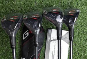 Toptan Yeni Golf Kulüpleri G serisi 410 Kurtarma Melezler Ahşap # 2 # 3 # 4 # 5 + Headcovers Real Resimleri İletişim Selller