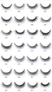 Factory wholesale price E series 28 styles sample provide 5 pairs 3D mink silk eyelashes natural long false eyelashes